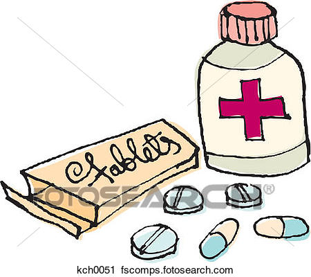 450x400 Clipart Of Tablets And Medication Kch0051