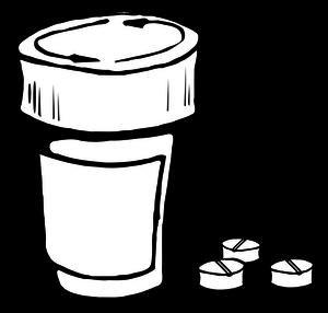 Medicine Bottle Clipart
