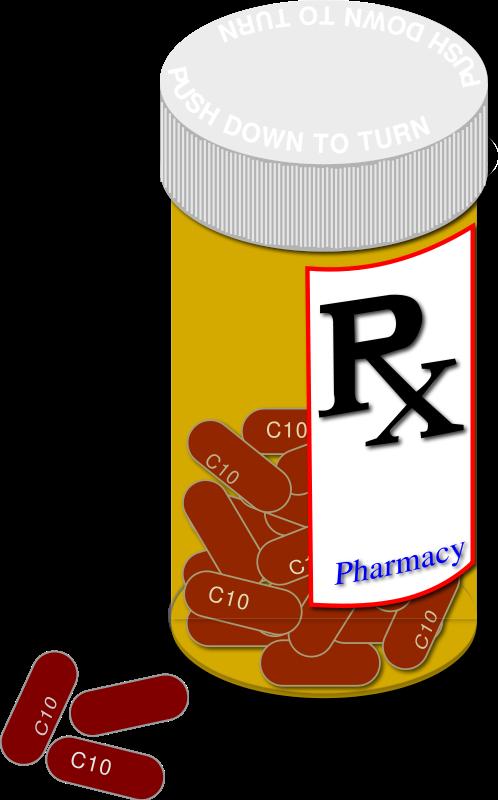 498x800 Free Medicine Bottle With Pills Clip Art