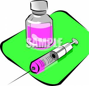 300x291 Picture A Bottle Of Pink Medicine And A Syringe Needle