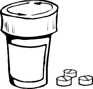 300x288 Pills And Bottle Clip Art