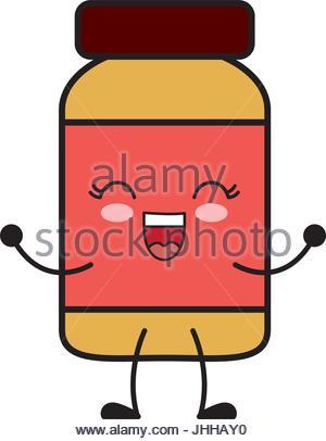 300x406 Kawaii Medicine Bottle Icon Stock Vector Art Amp Illustration