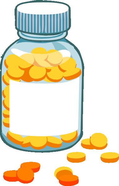 384x599 Blank Pill Bottle Clip Art