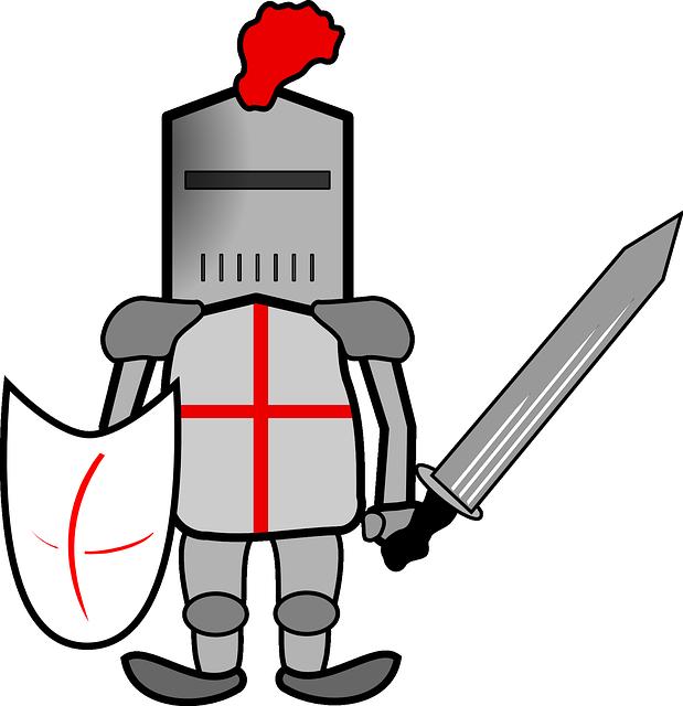 619x640 Medieval Clipart Crusader