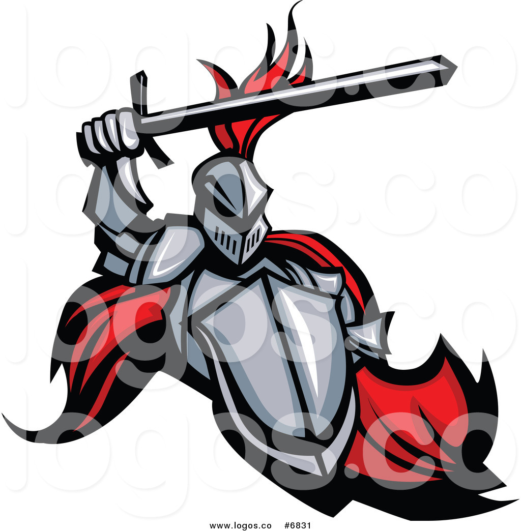 1024x1044 Royalty Free Cliprt Vector Logo Of Medieval Knight