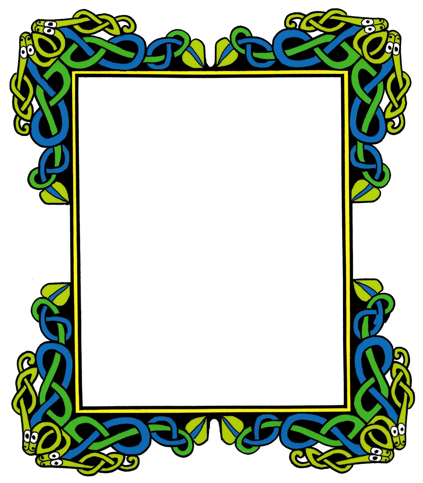 1401x1600 Free Medieval Page Border Clipart