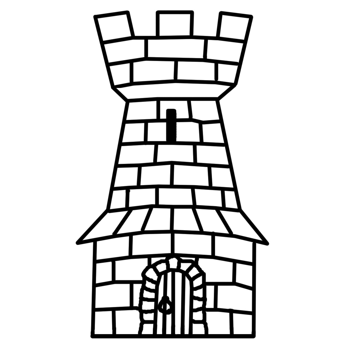 1200x1200 Medieval Clipart Black And White