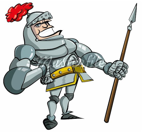 550x510 Knight Clipart Medieval Knight