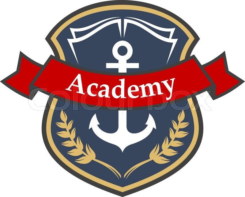 800x642 Maritime Academy Heraldic Badge In A Shape Of Medieval Shield