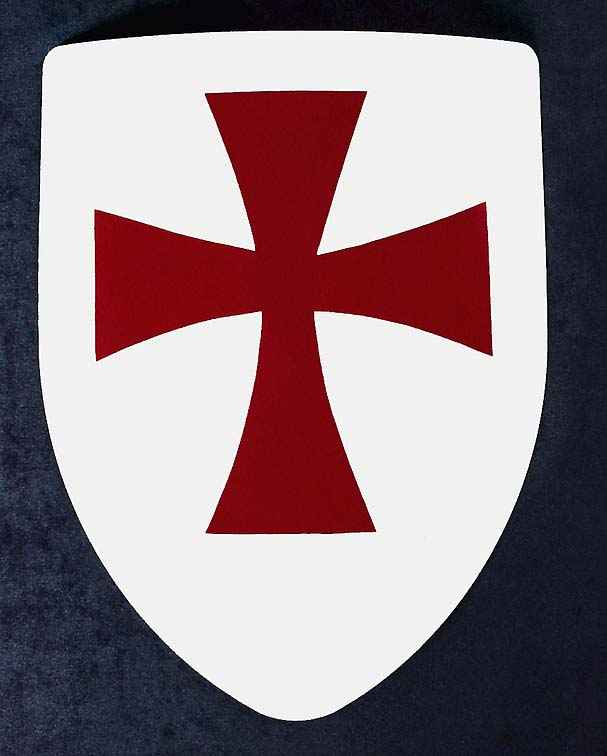 607x756 Templar Knights Medieval Shield, Hand Painted