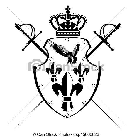 450x470 Drawn Sword Sword Shield