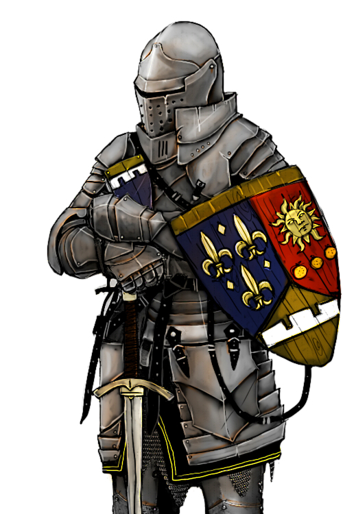 500x750 Medieval Knight Holding Sword Shield Picture