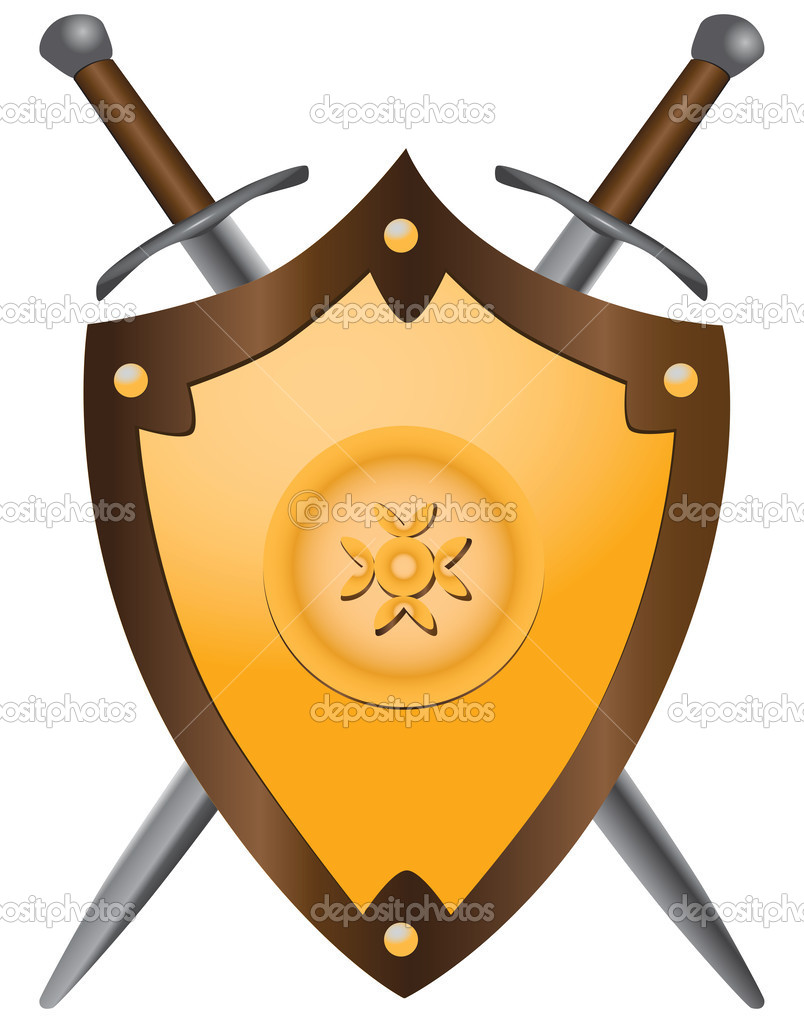 804x1023 Medieval Swords And Shields Clipart