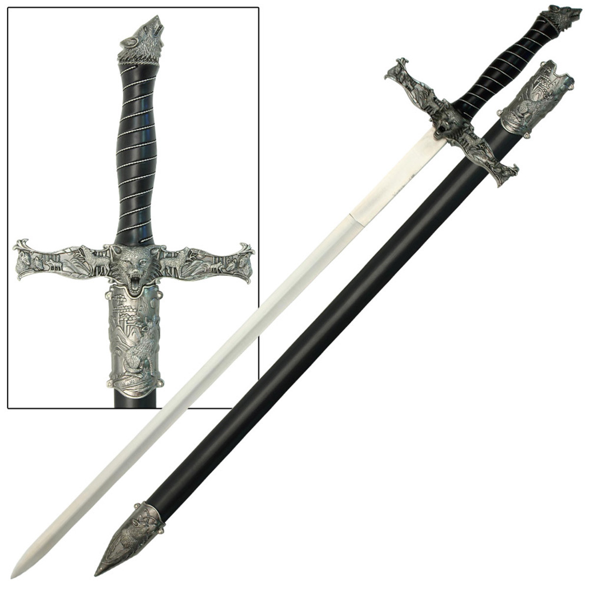 1200x1200 Spirit Of The Alpha Wolf Medieval Sword
