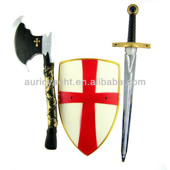 350x350 Classic Cheap Cool Plastic Medieval Crusade Toy Swords And Shield