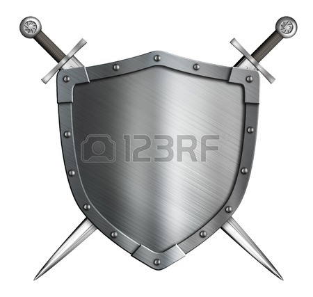 450x427 Coat Of Arms Medieval Knight Shield And Crossed Swords Isolated