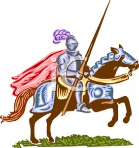 282x300 Battle Clipart Medieval Knight