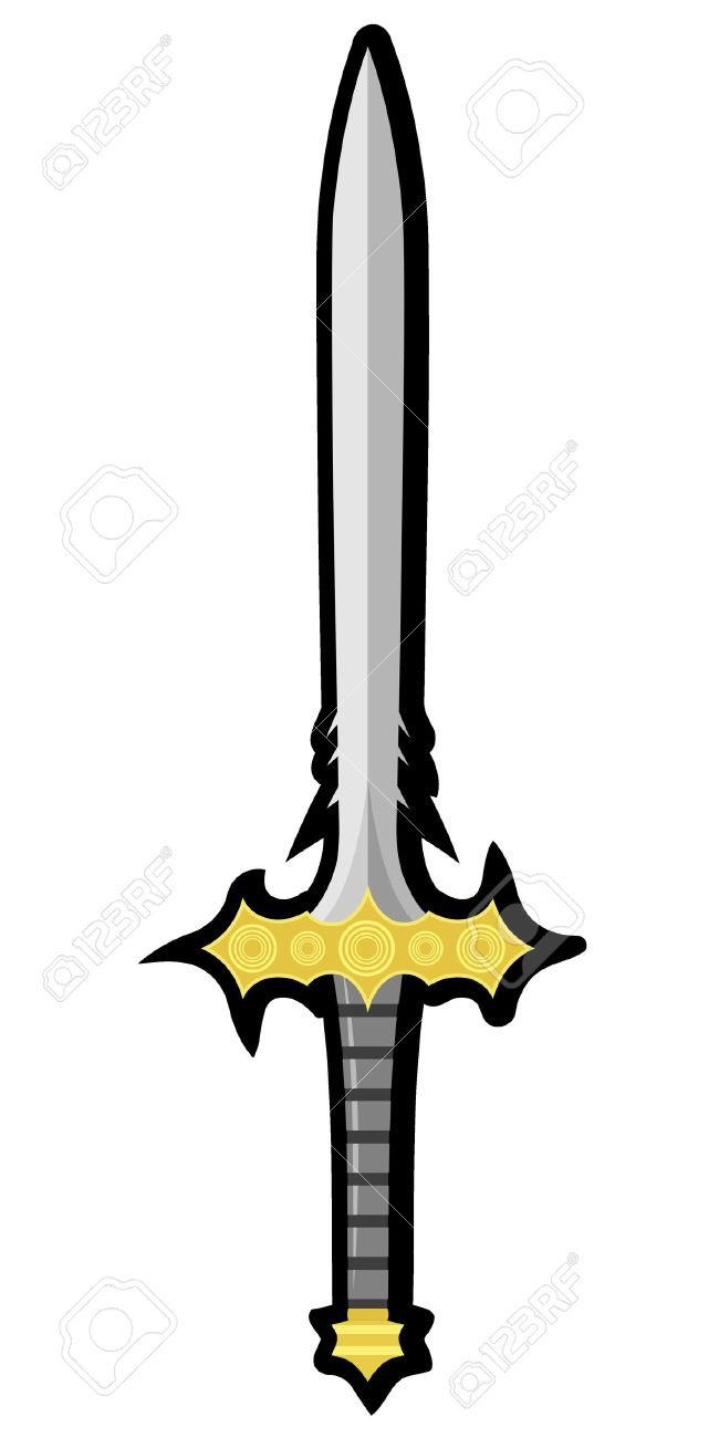 650x1300 Weapon Clipart Medieval Sword