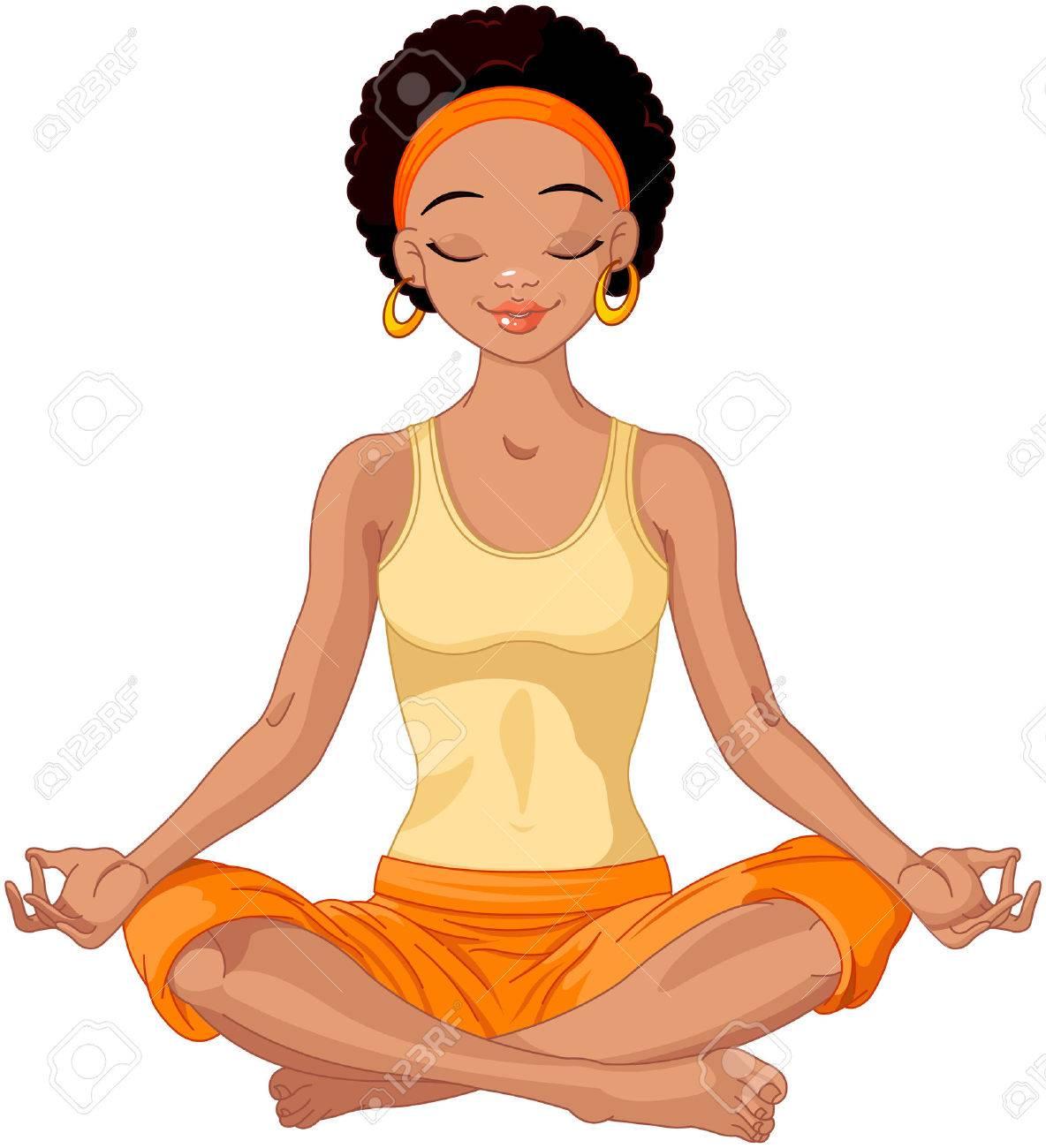 1184x1300 Beautiful Girl Doing Yoga Meditation Royalty Free Cliparts