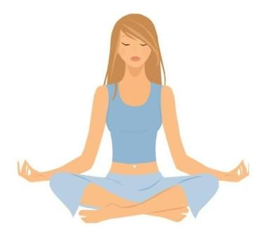 390x336 Meditation Clipart Physical Exercise