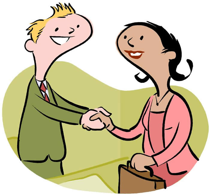 700x652 Two People Meet Clip Art Cliparts