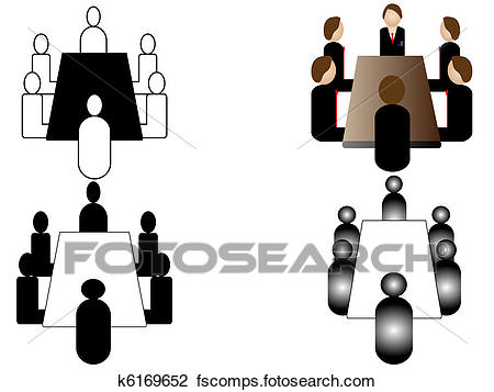 450x357 Clip Art Of Business Meeting Icon K6169652