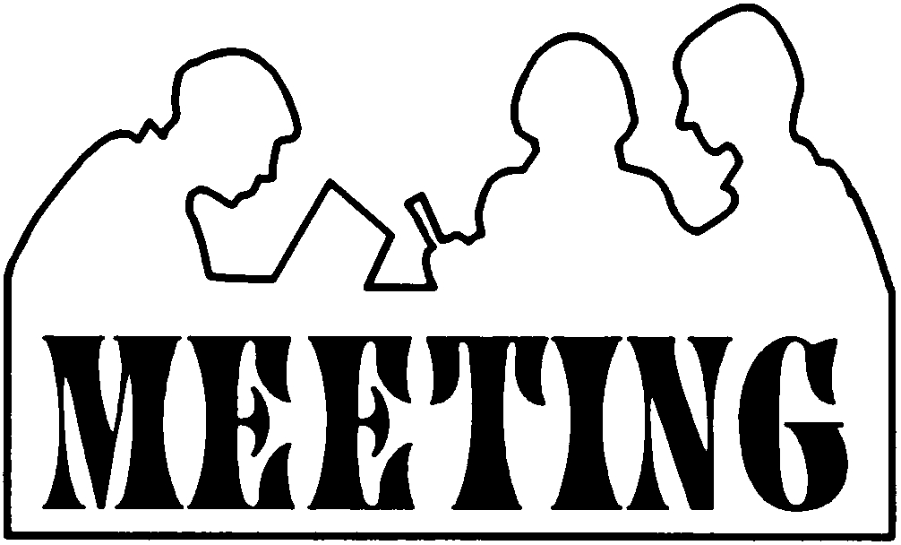 1006x608 Meeting Clipart Black And White