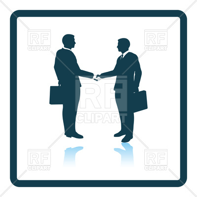 400x400 Icon Of Meeting Businessmen, Business Handshake Royalty Free