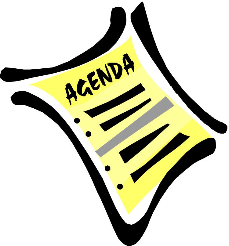 750x806 Meeting Agenda Clipart