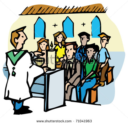 450x436 People At Church Clipart