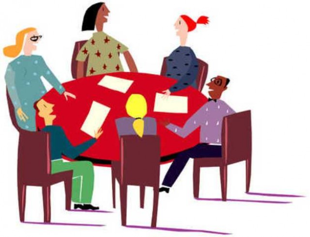 640x490 Clip Art People Meeting Clipart Image