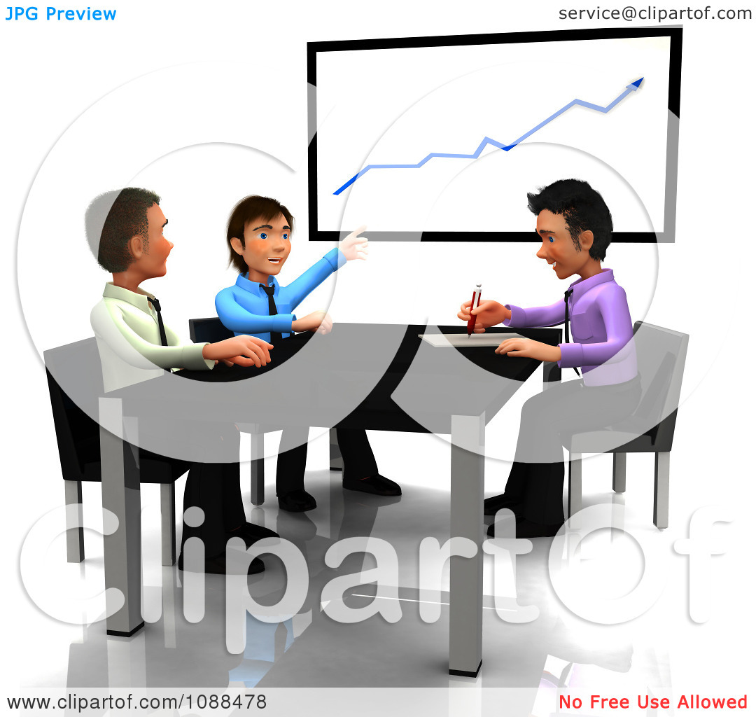 1080x1024 Funny Business Meeting Clipart