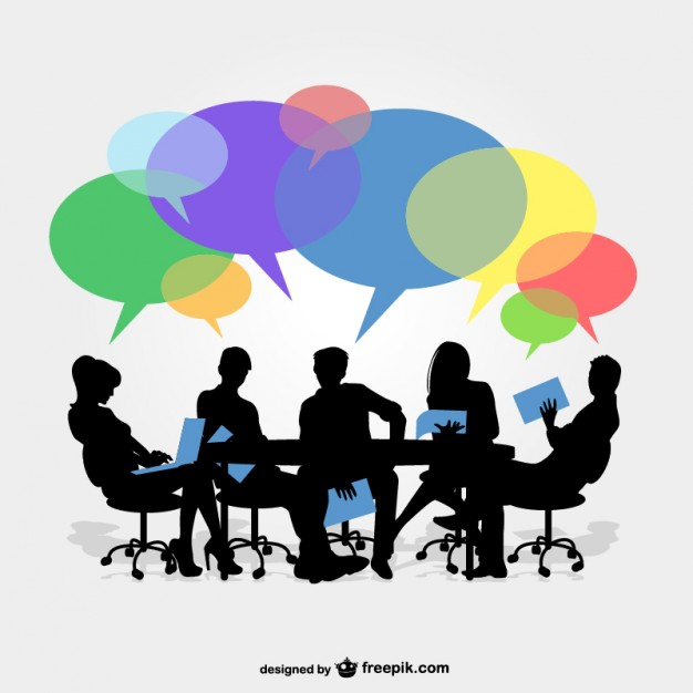 626x626 Business Group Meeting Vector Free Download