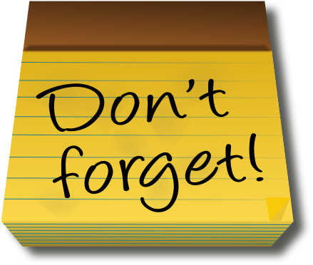 439x372 Notice Clipart Meeting Reminder