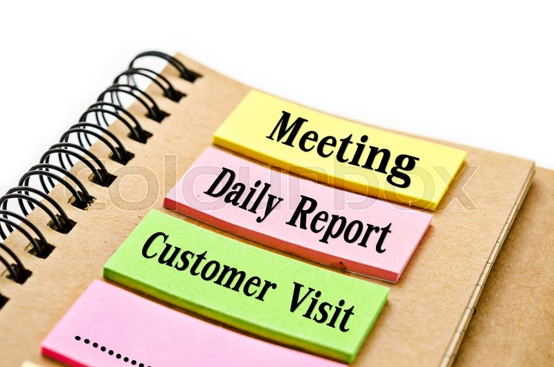 800x530 Reminder Meeting, Daily Report, Customer Visit, Word On Sticky