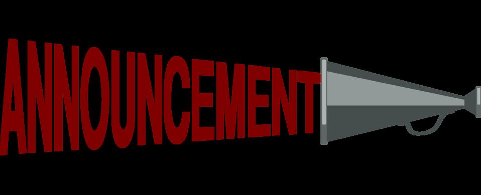 958x389 Red Icon Megaphone Announcement Clipart