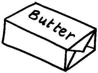 319x240 Butter Clipart Black And White