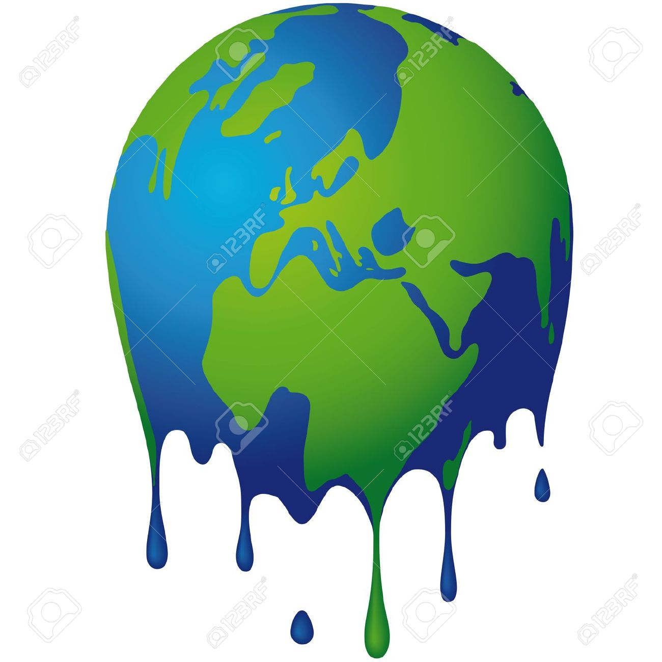 1300x1300 Melting Earth Clipart