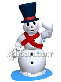 263x350 Melting Snowman