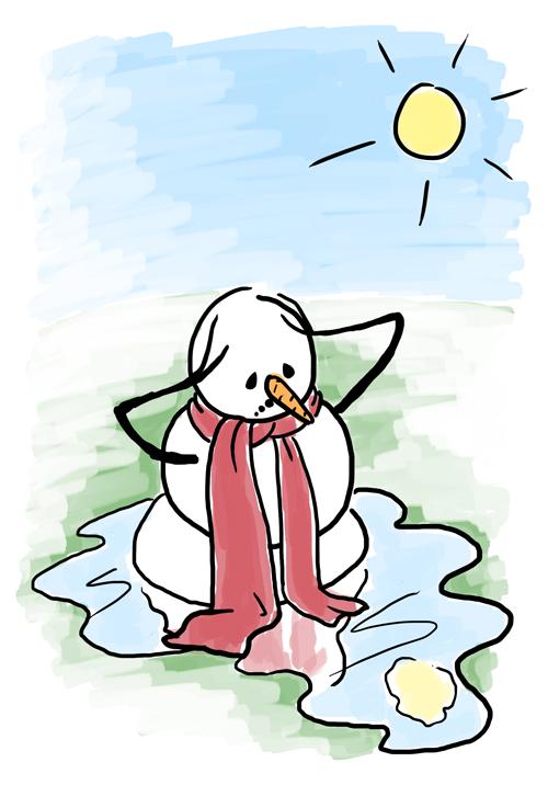 500x716 Melting Snowman Sketch Karen B. Jones