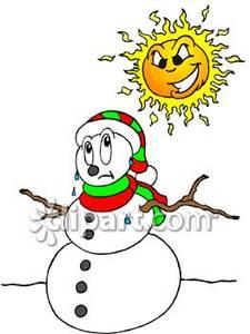 225x300 Sun Melting A Snowman