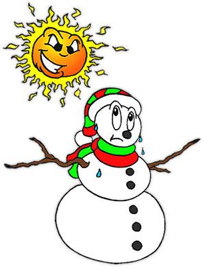 296x389 Sun Clipart Snowman
