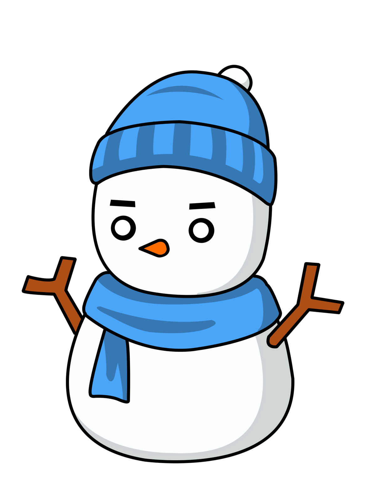1200x1600 Winter Snowman Clip Art Free Chemical Drawing Philips Universal