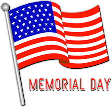225x215 Free Memorial Day Clip Art Flags Clipart
