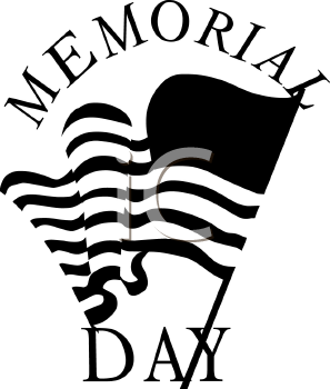 297x350 Memorial Day Black And White Clipart 2039500