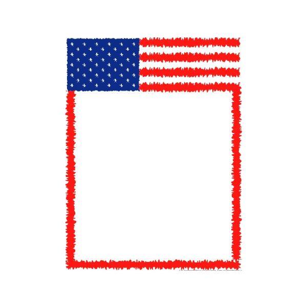 600x600 Memorial Day Border Clipart