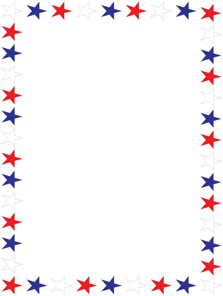 771x1024 Veterans Day Clipart Border
