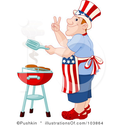 400x420 Memorial Day Barbecue Clipart