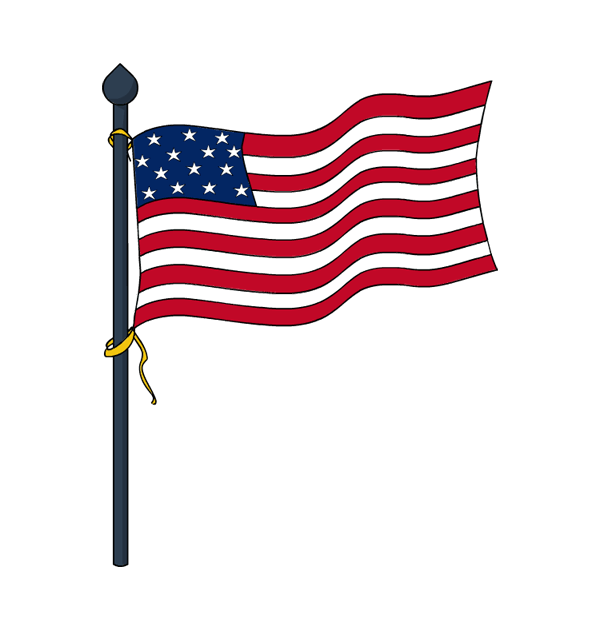 600x630 Flag clipart memorial day