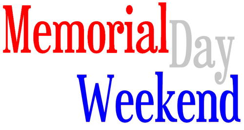 500x268 Memorial Day Weekend Clipart